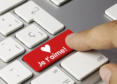 Je t'aime. Clavier