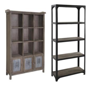 bibliotheque industrielle. Black Bedroom Furniture Sets. Home Design Ideas