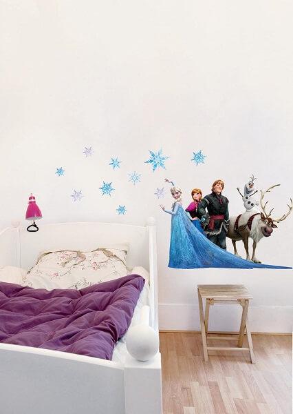 Sticker d co enfant ils en raffolent jardindeco - Reine des neiges chambre ...