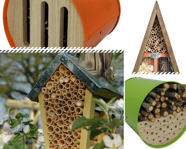 Abri pour insectes du jardin coccinelle papillon abeille