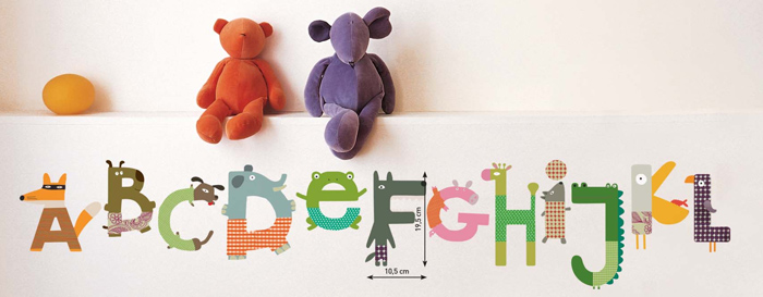 Sticker chambre enfant Alphabet