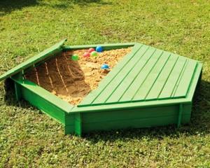 Bac à sable enfant en couleur avec couvercle