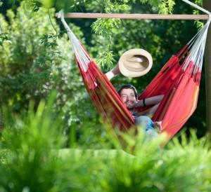 Chaise hamac pour le jardin, la terrasse ou l'intérieur