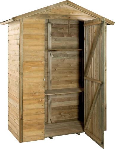 Rangement jardinier grande armoire en bois