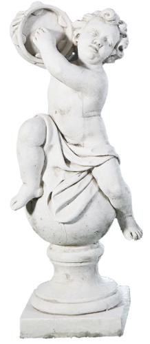 Statue de jardin en pierre musicien