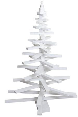Déco de Noël 2017 sapin en bois blanchi