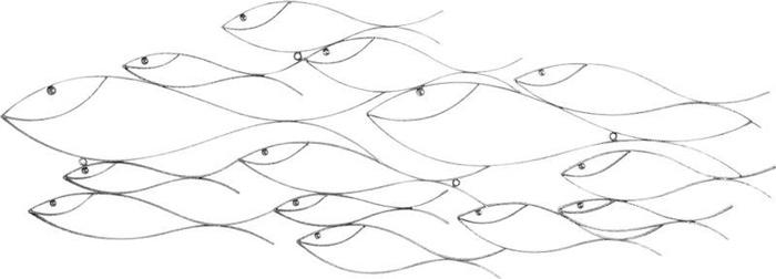 Décoration thèmer de la mer poissons