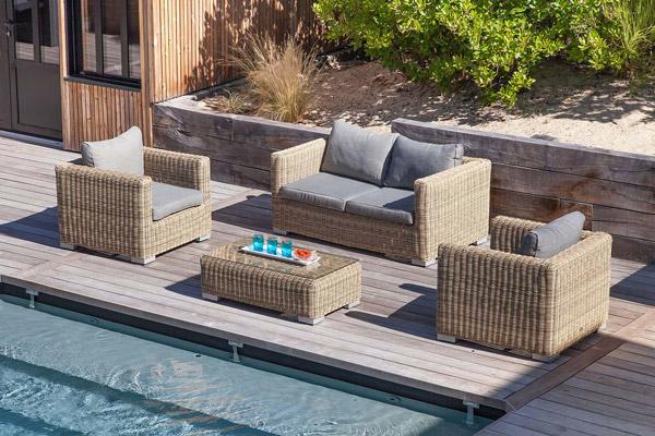 mobilier de jardin Proloisirs Salon canapé de jardin résine
