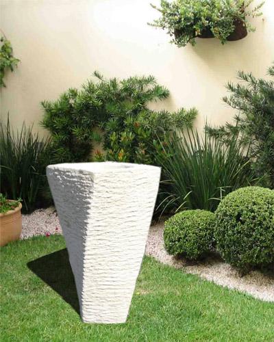Pot en pierre reconstituée plantes pour un jardin moderne