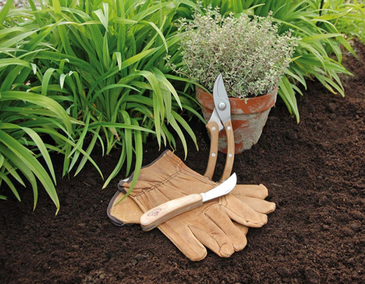 Outils taille des haies Gants jardinier