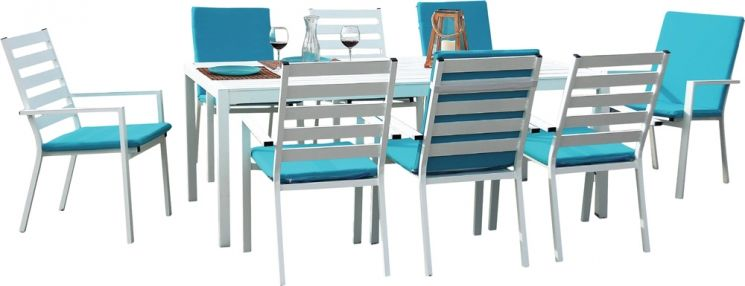 Nouveautés printemps Jardindeco table jardin aluminium