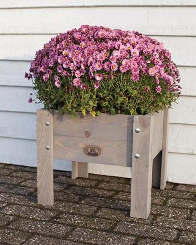 bac à fleurs surélevé idée déco terrasse moderne