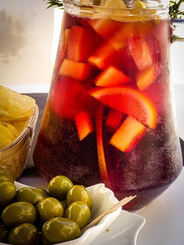 Cocktails rafraîchissants sangria sans alcool