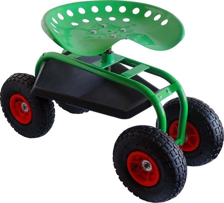 Siège pour jardiner sur roues
