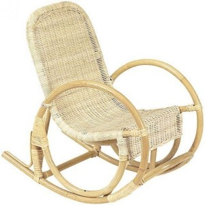 chaise véranda rocking-chair en rotin